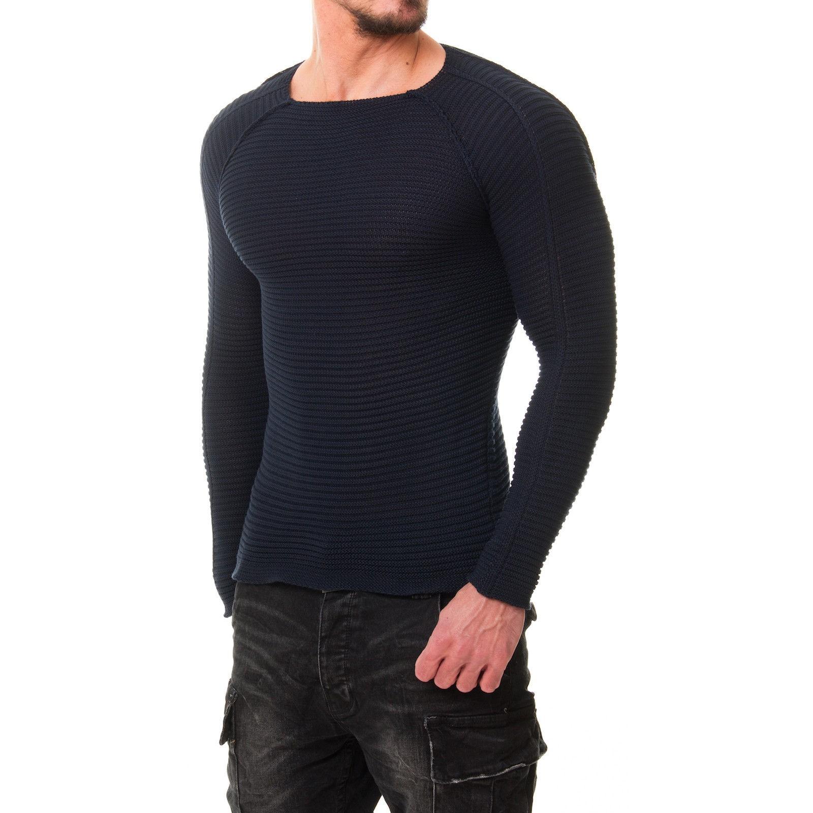 herren strick 1442 pullover sweat shirt fitness netz body slim fit. Black Bedroom Furniture Sets. Home Design Ideas