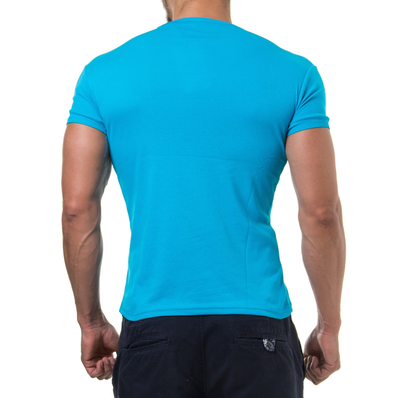 young rich 1874 herren t shirt deep v neck body fit muskel shirt fitness gym ebay. Black Bedroom Furniture Sets. Home Design Ideas