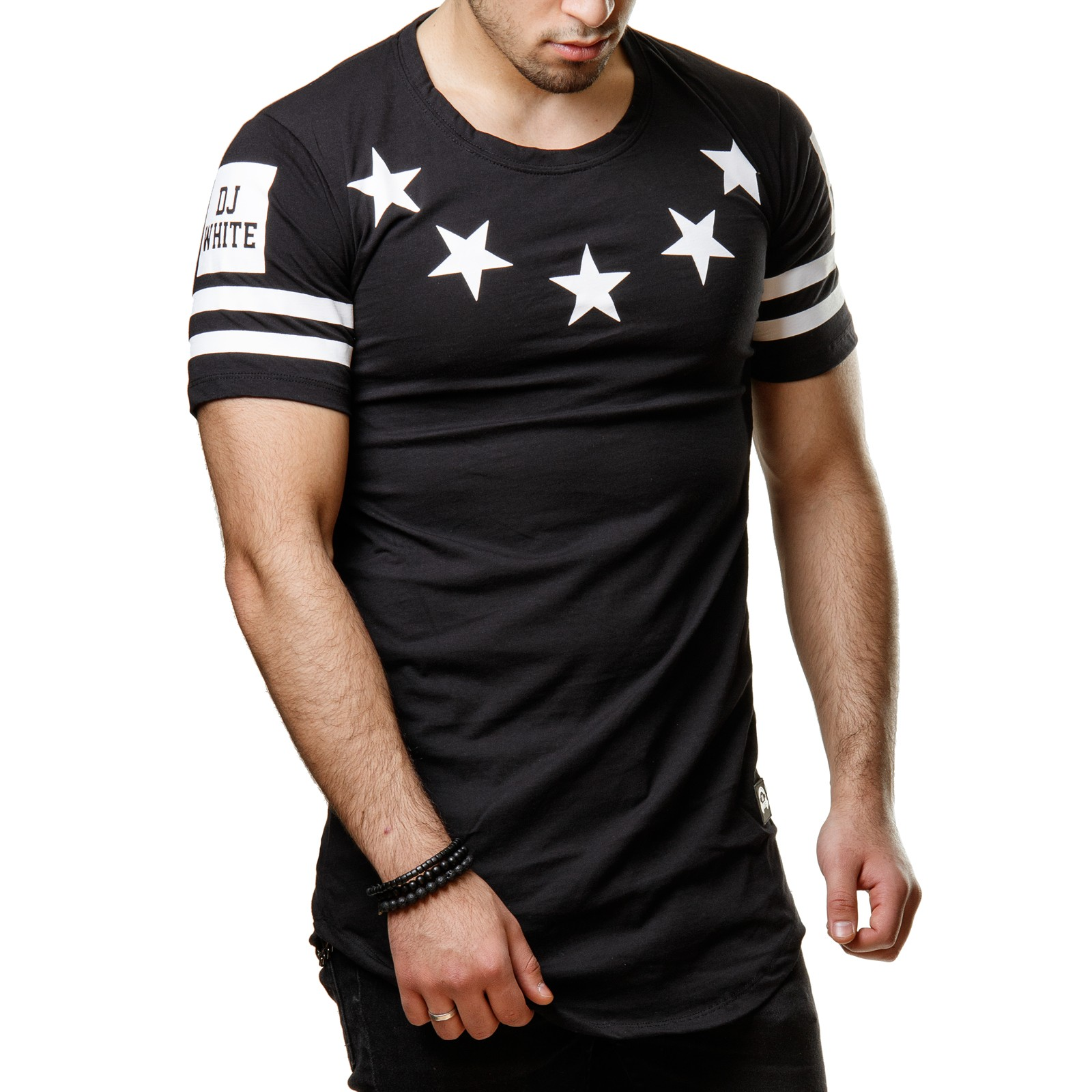 dj white 162002 herren t shirt berlin star camouflage oversize long shirt s xl. Black Bedroom Furniture Sets. Home Design Ideas